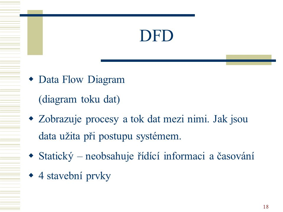DFD Data Flow Diagram (diagram toku dat)