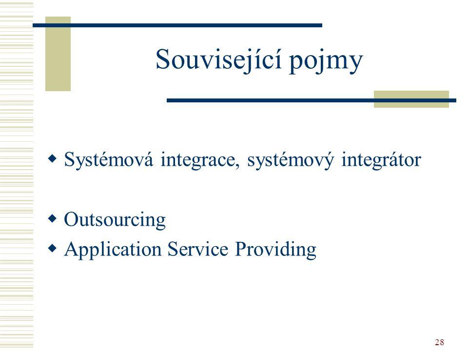 Související pojmy Systémová integrace, systémový integrátor