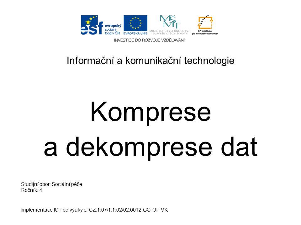 Informační a komunikační technologie