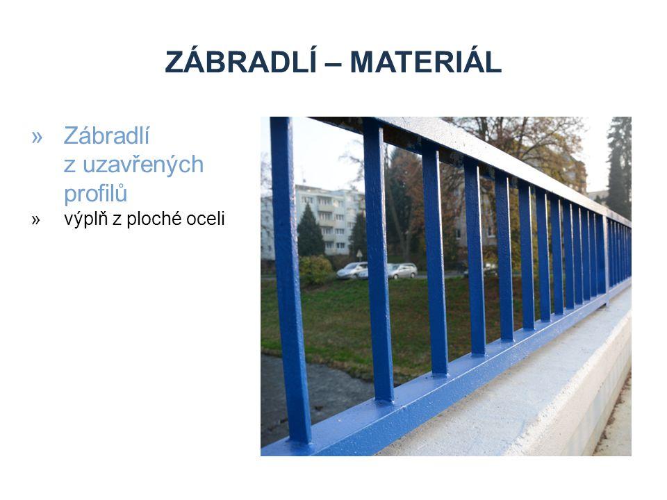 Zábradlí – materiál Zábradlí z uzavřených profilů výplň z ploché oceli