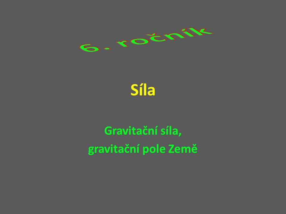 Gravitační síla, gravitační pole Země