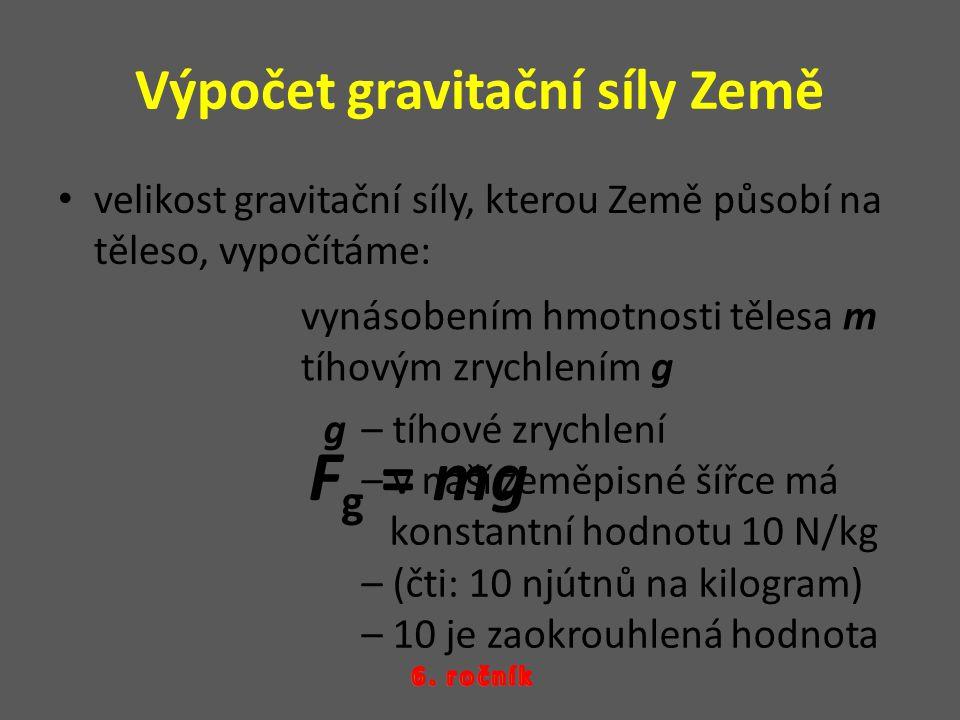 Výpočet gravitační síly Země