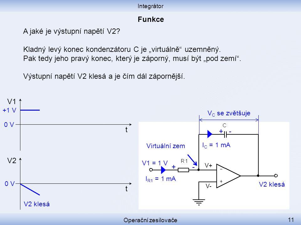 A jaké je výstupní napětí V2