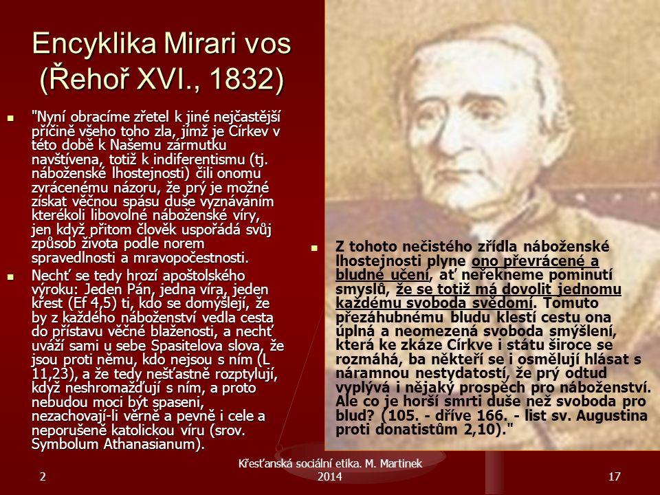 Encyklika Mirari vos (Řehoř XVI., 1832)