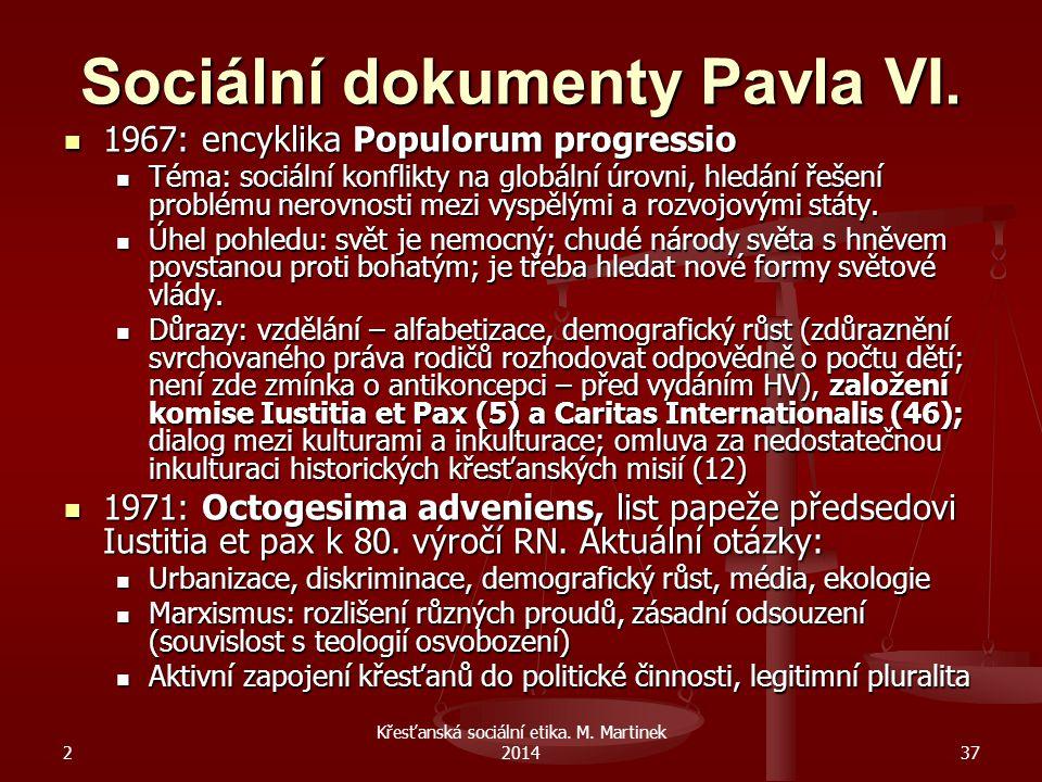 Sociální dokumenty Pavla VI.