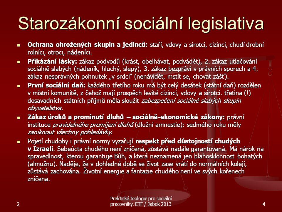 Starozákonní sociální legislativa