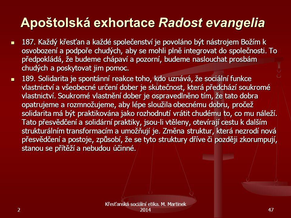 Apoštolská exhortace Radost evangelia