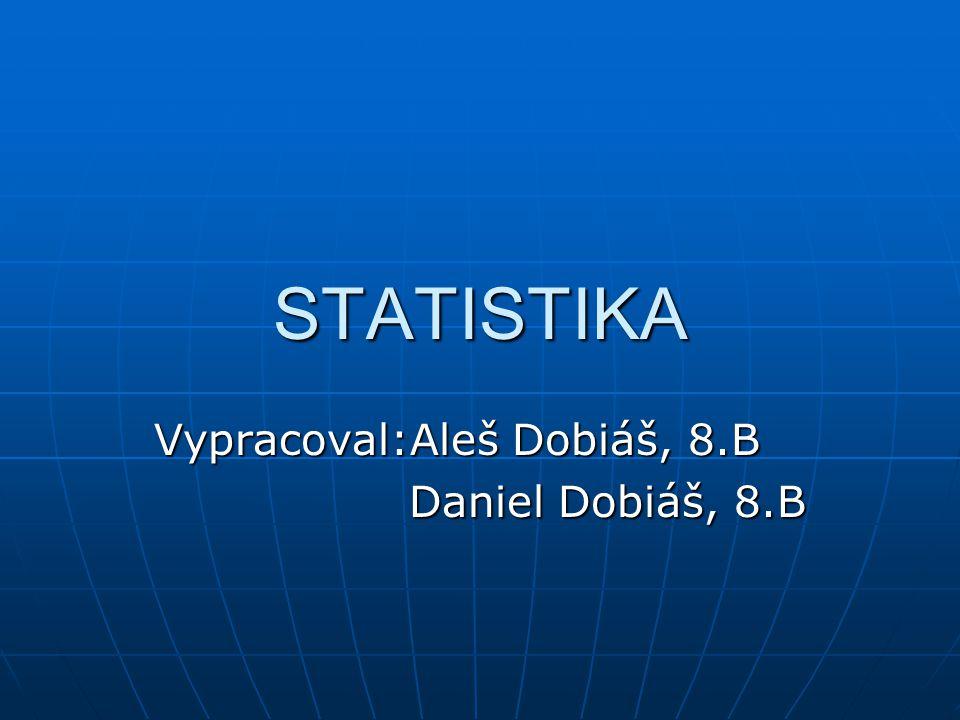 Vypracoval:Aleš Dobiáš, 8.B Daniel Dobiáš, 8.B