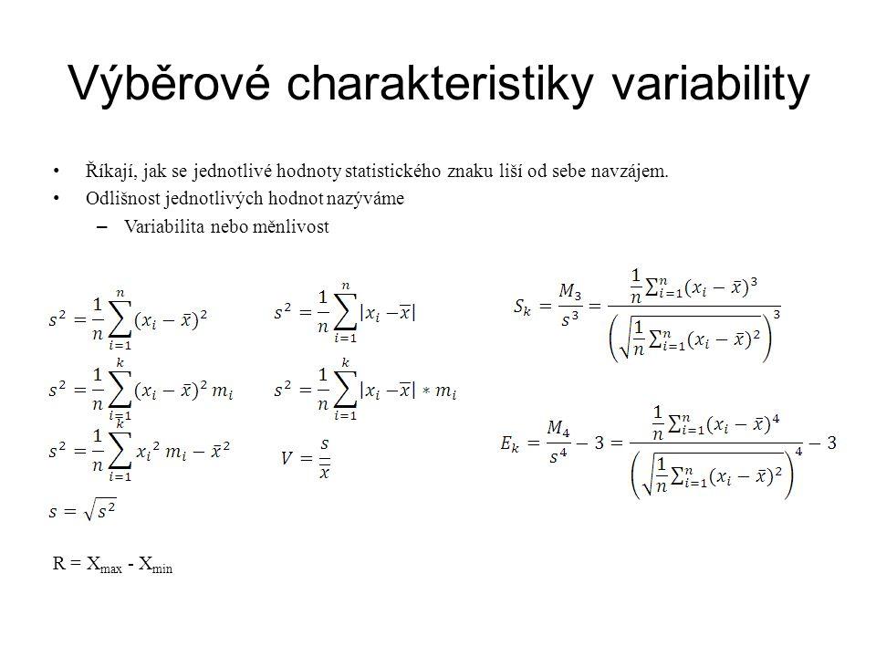 Výběrové charakteristiky variability