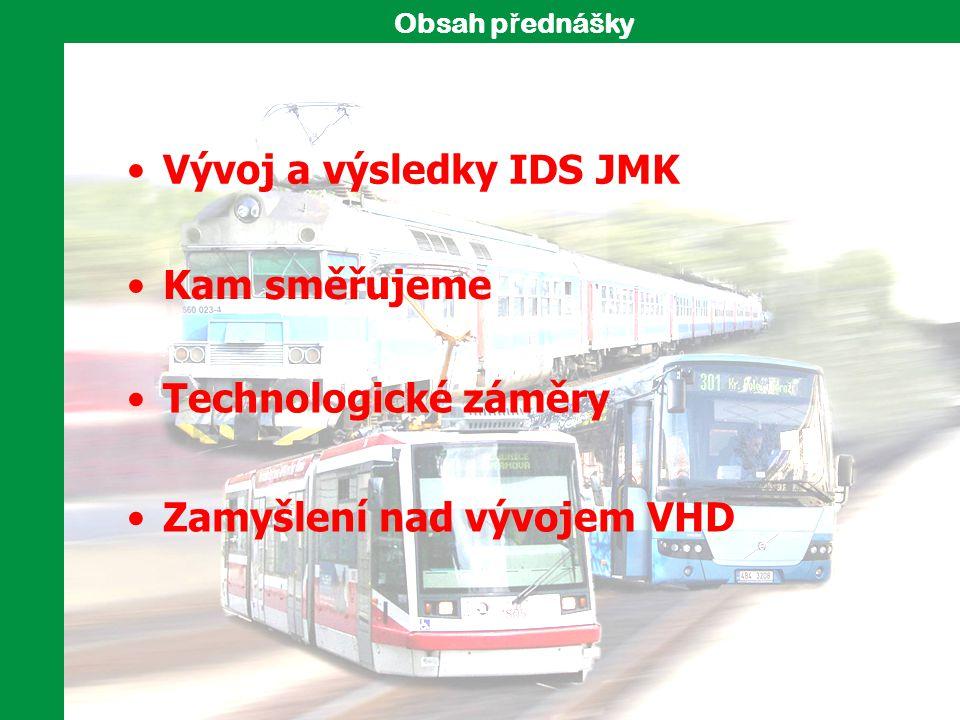 Vývoj a výsledky IDS JMK