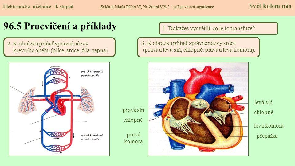 96.5 Procvičení a příklady 1. Dokážeš vysvětlit, co je to transfuze