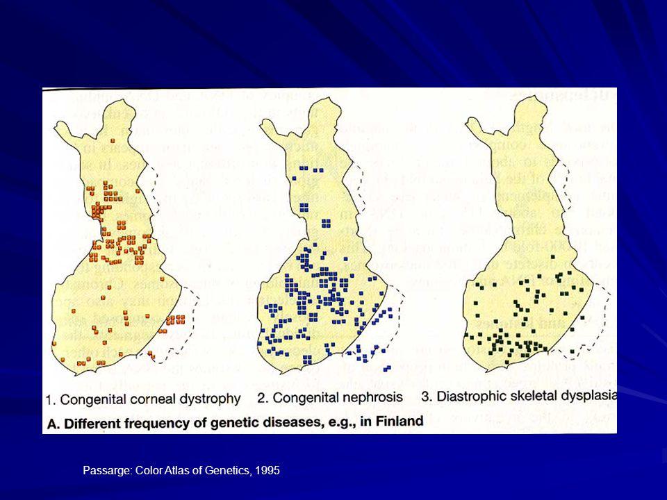 Passarge: Color Atlas of Genetics, 1995