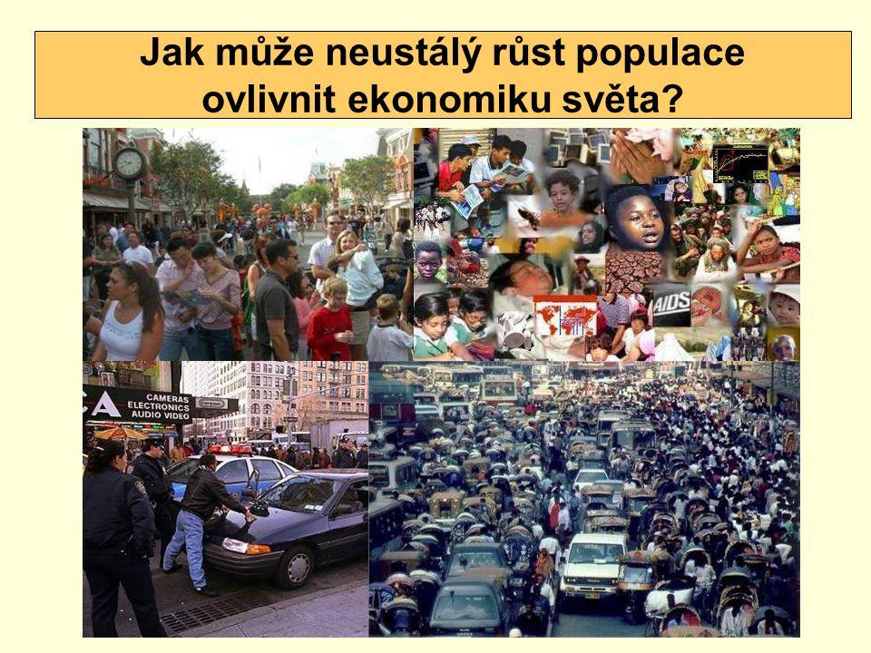 Jak může neustálý růst populace ovlivnit ekonomiku světa