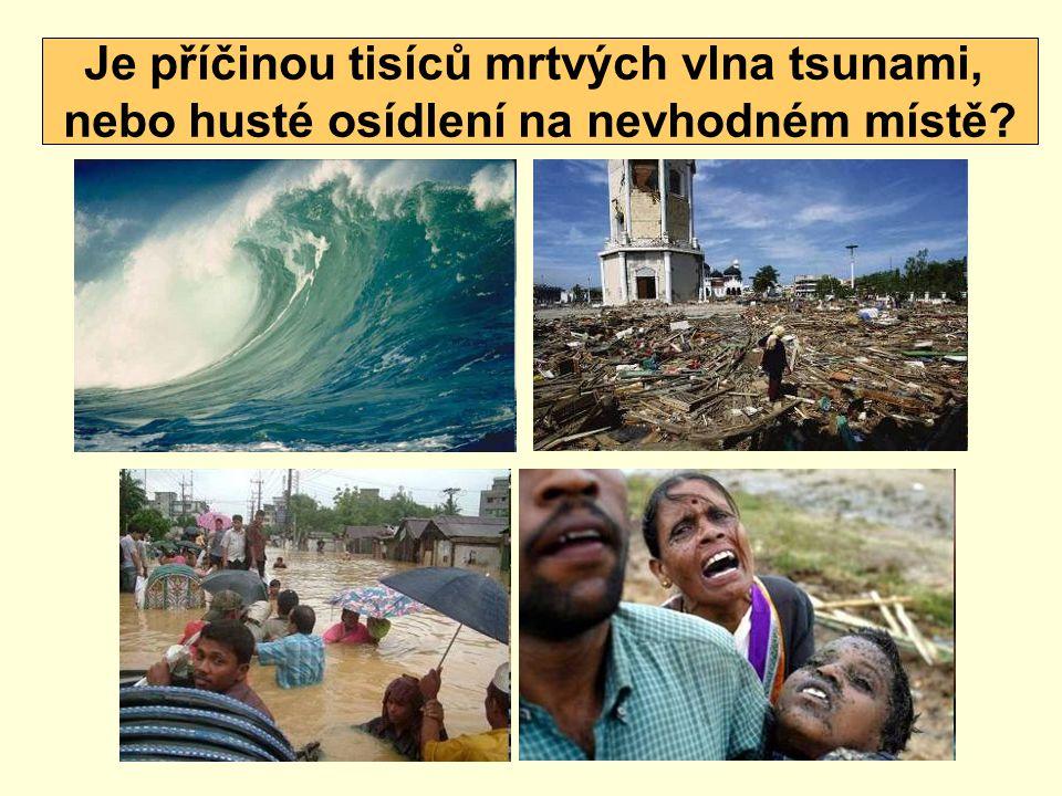 Je příčinou tisíců mrtvých vlna tsunami,