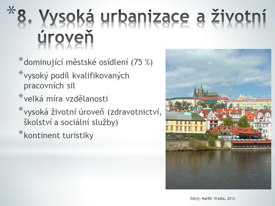 8. Vysoká urbanizace a životní úroveň