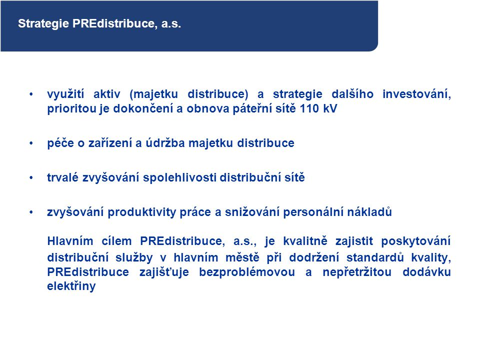 Strategie PREdistribuce, a.s.