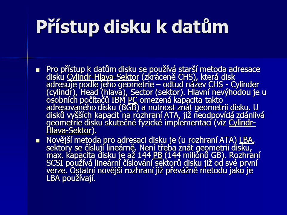 Přístup disku k datům