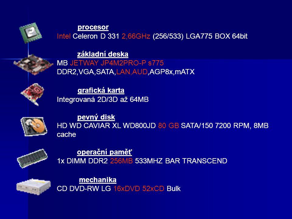procesor Intel Celeron D 331 2,66GHz (256/533) LGA775 BOX 64bit