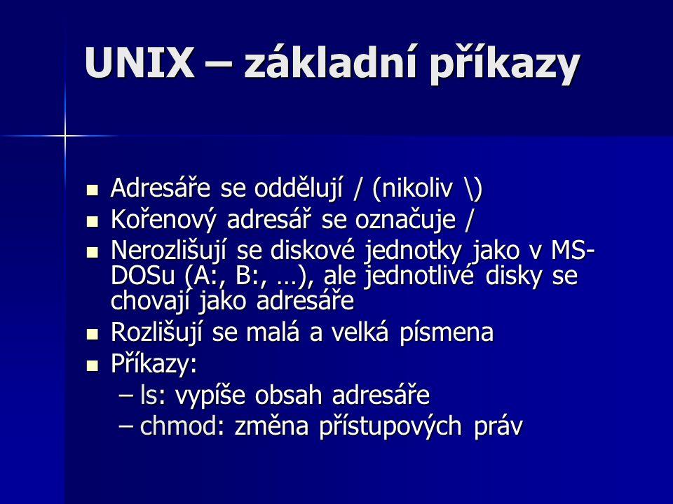UNIX – základní příkazy