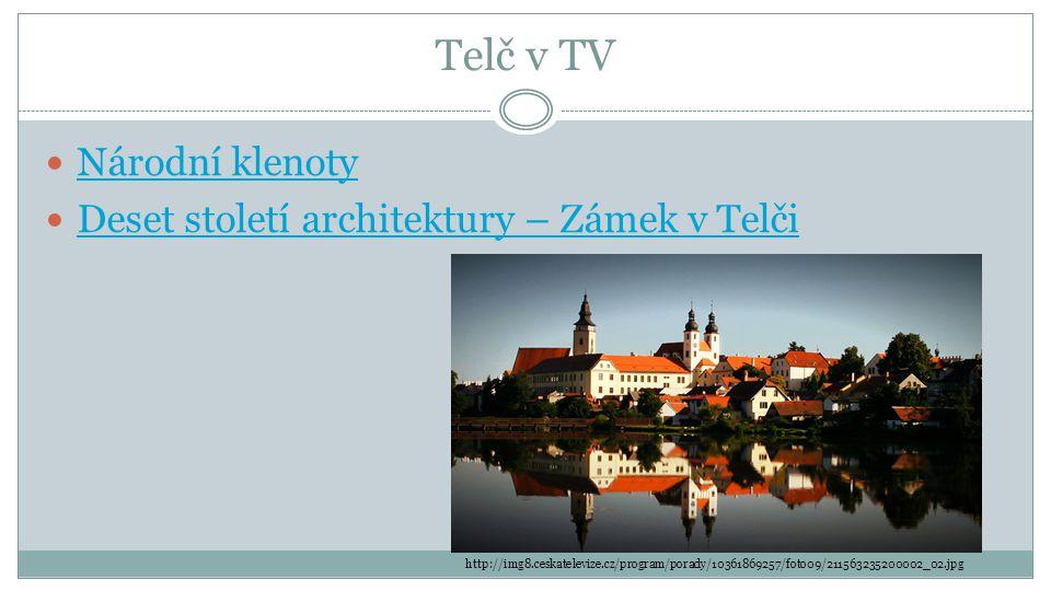 Telč v TV Národní klenoty Deset století architektury – Zámek v Telči