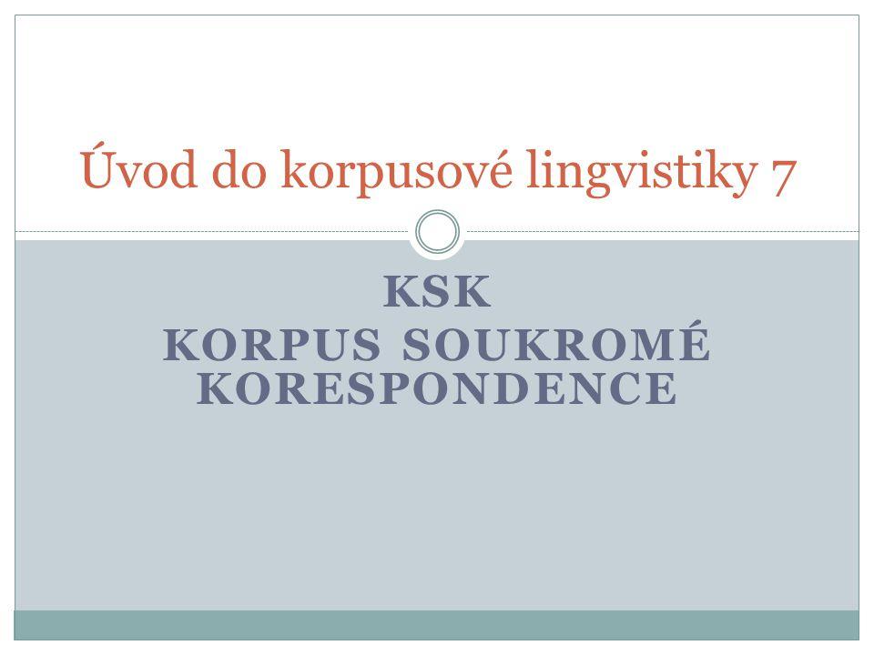 Úvod do korpusové lingvistiky 7