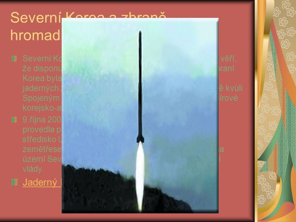 Severní Korea a zbraně hromadného ničení