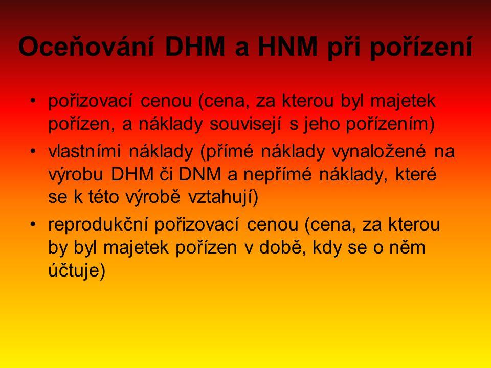 Oceňování DHM a HNM při pořízení