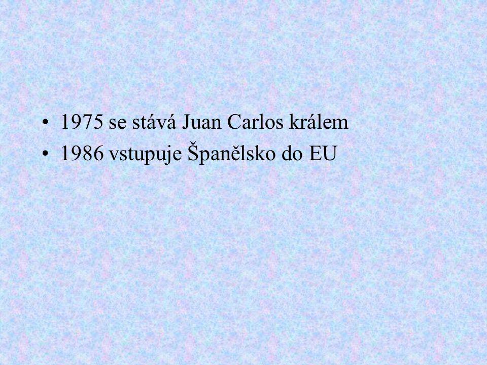 1975 se stává Juan Carlos králem