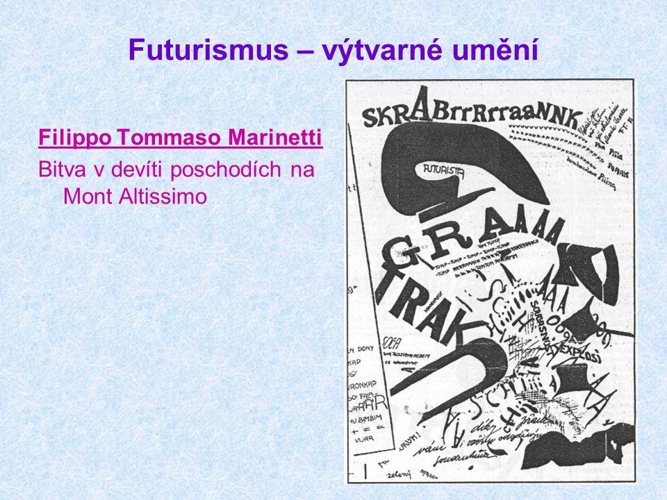 Futurismus – výtvarné umění