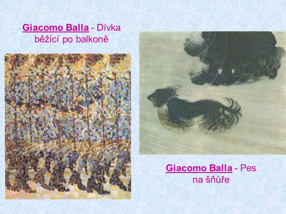Giacomo Balla - Dívka běžící po balkoně