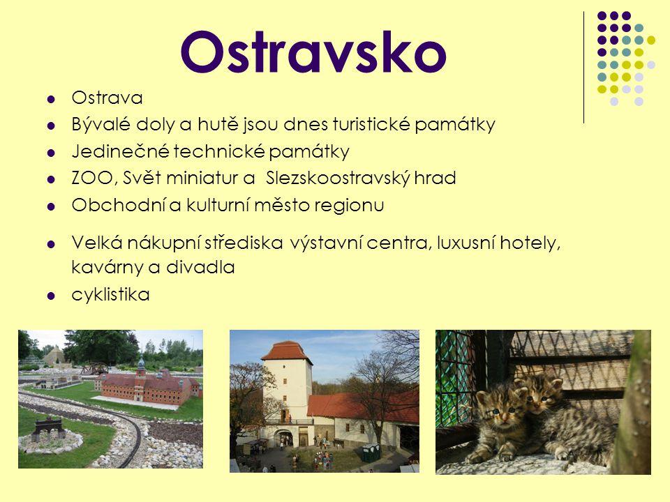 Ostravsko Ostrava Bývalé doly a hutě jsou dnes turistické památky