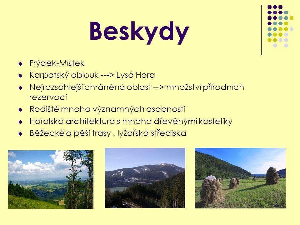 Beskydy Frýdek-Místek Karpatský oblouk ---> Lysá Hora