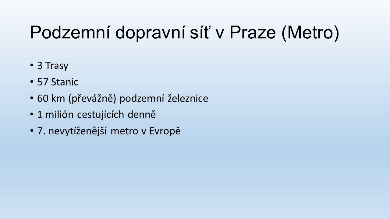 Podzemní dopravní síť v Praze (Metro)