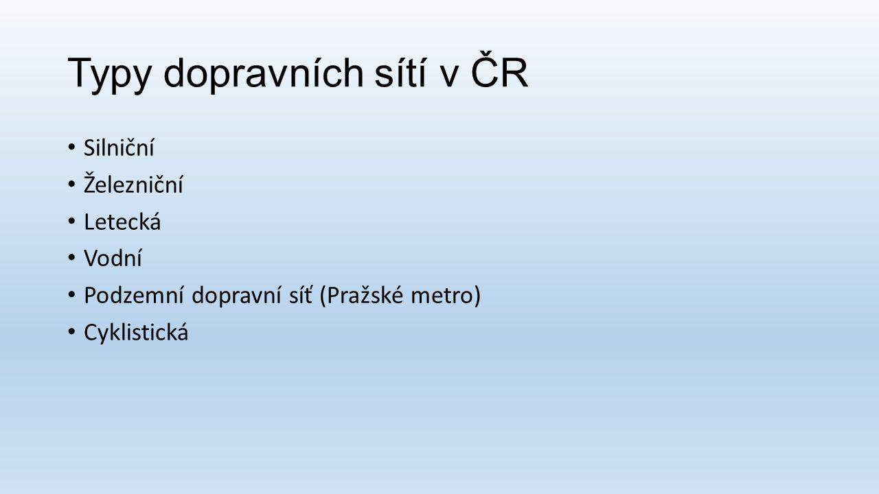 Typy dopravních sítí v ČR