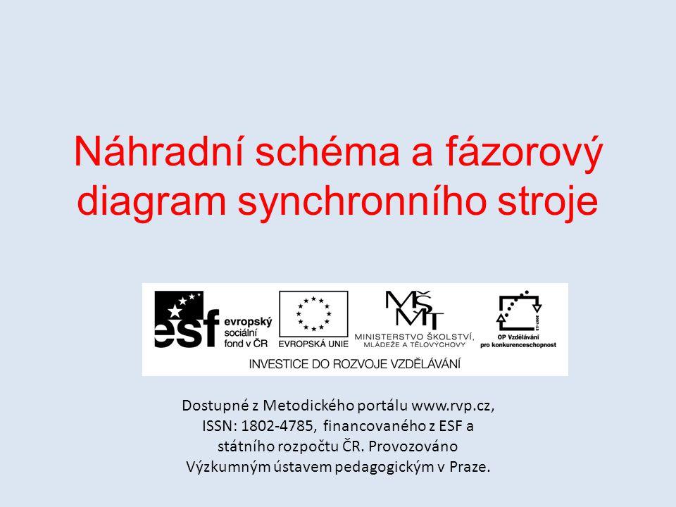 Náhradní schéma a fázorový diagram synchronního stroje