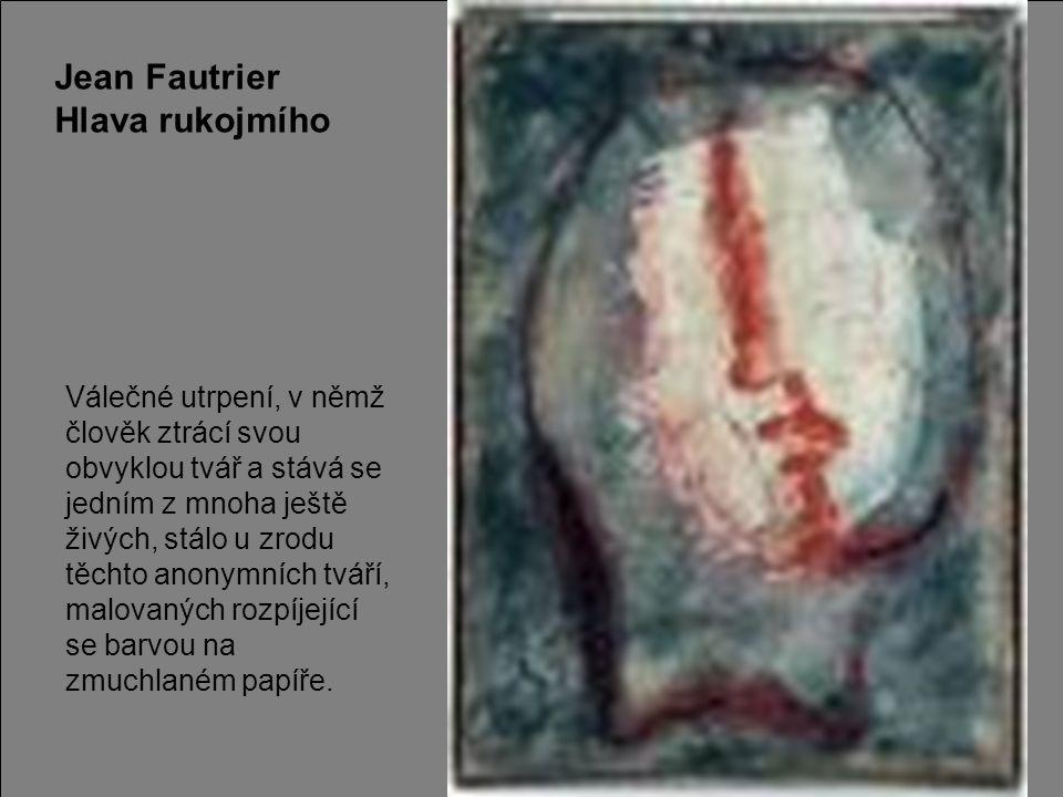 Jean Fautrier Hlava rukojmího
