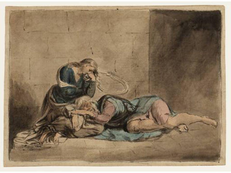 Král Lear s Kordélií ve vězení