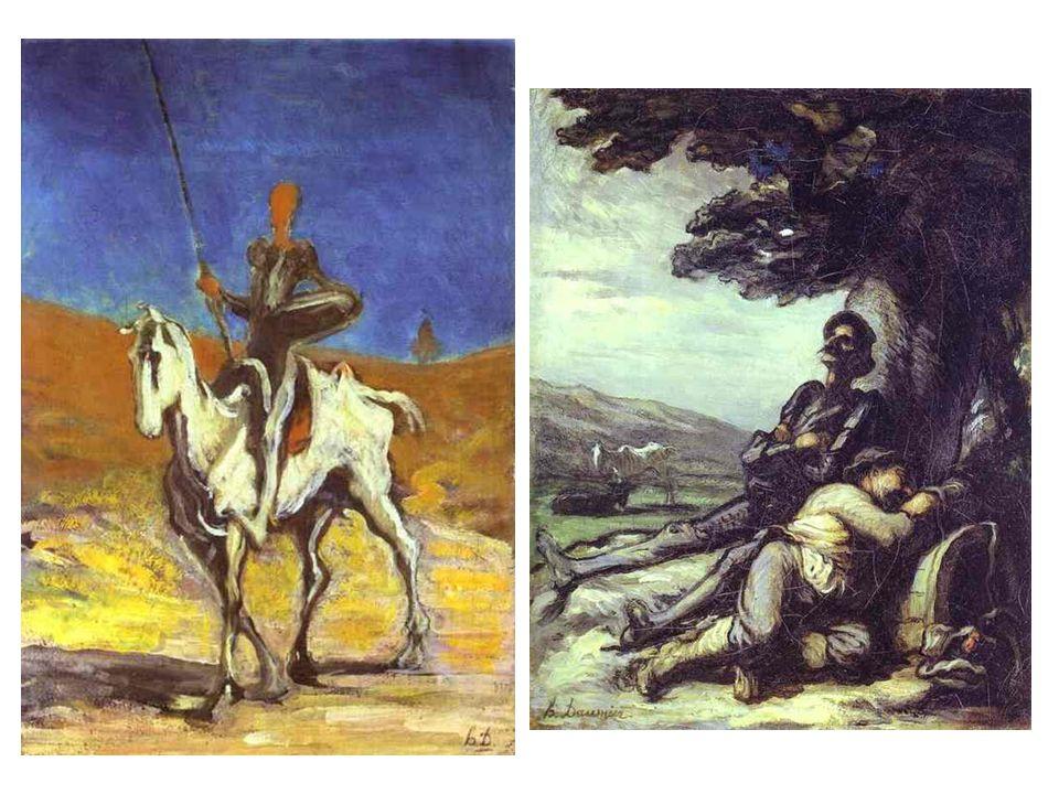 Don Quijote a Sancho Panza; Don Quijote a Sancho Panza odpočívající pod stromem