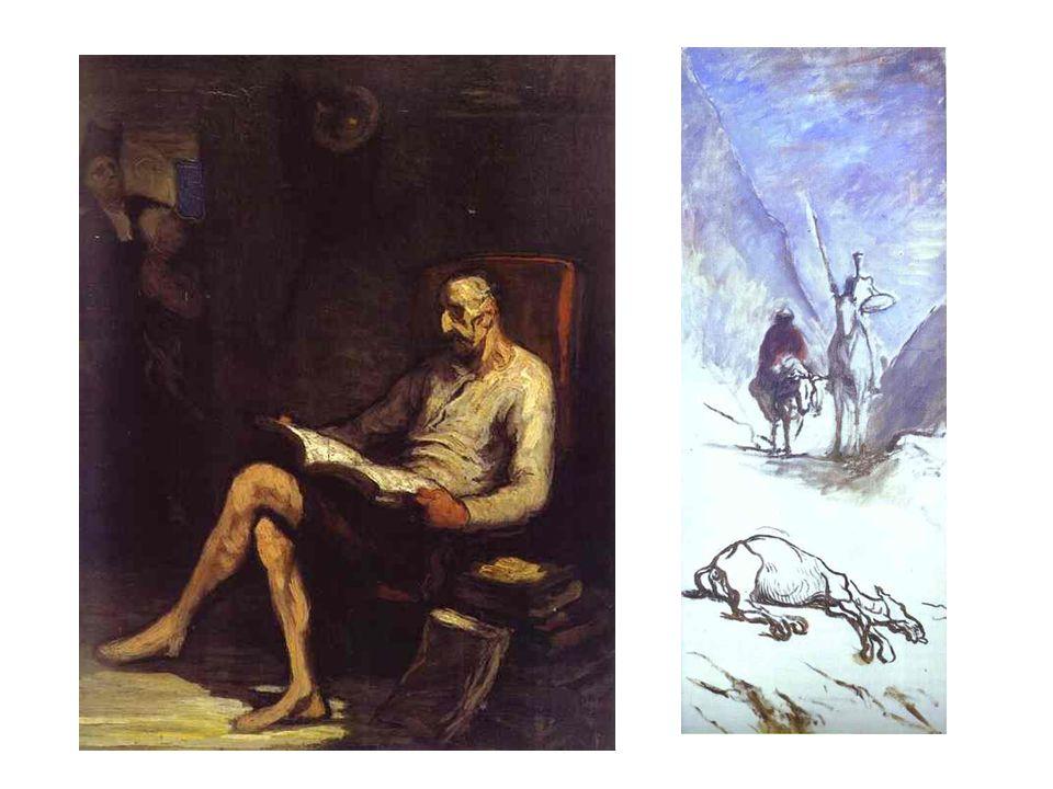 Don Quijote čtoucí; Don Quijotw a mrtvý mezek