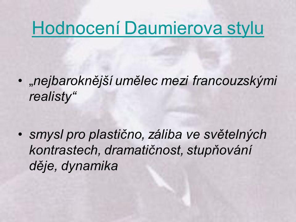 Hodnocení Daumierova stylu