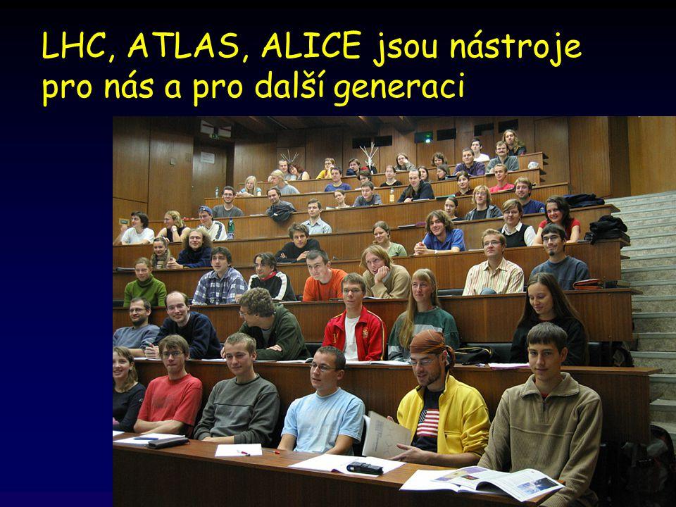 LHC, ATLAS, ALICE jsou nástroje pro nás a pro další generaci
