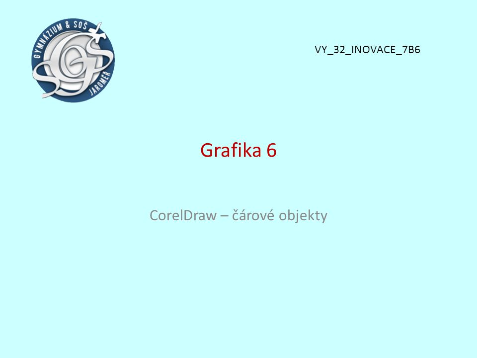 CorelDraw – čárové objekty