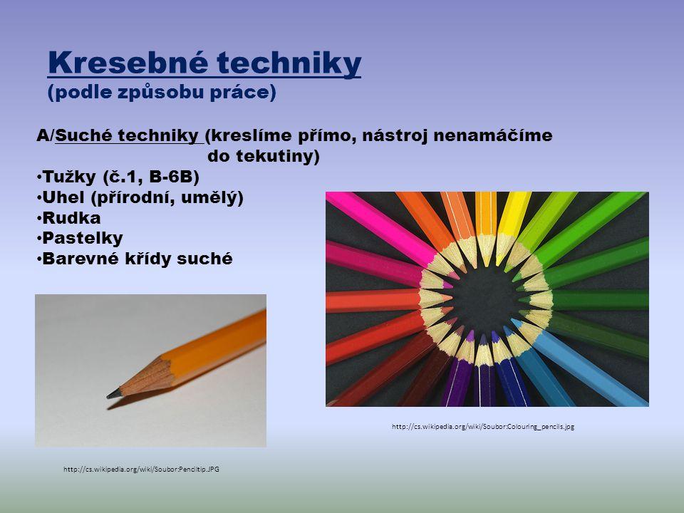 Kresebné techniky (podle způsobu práce)