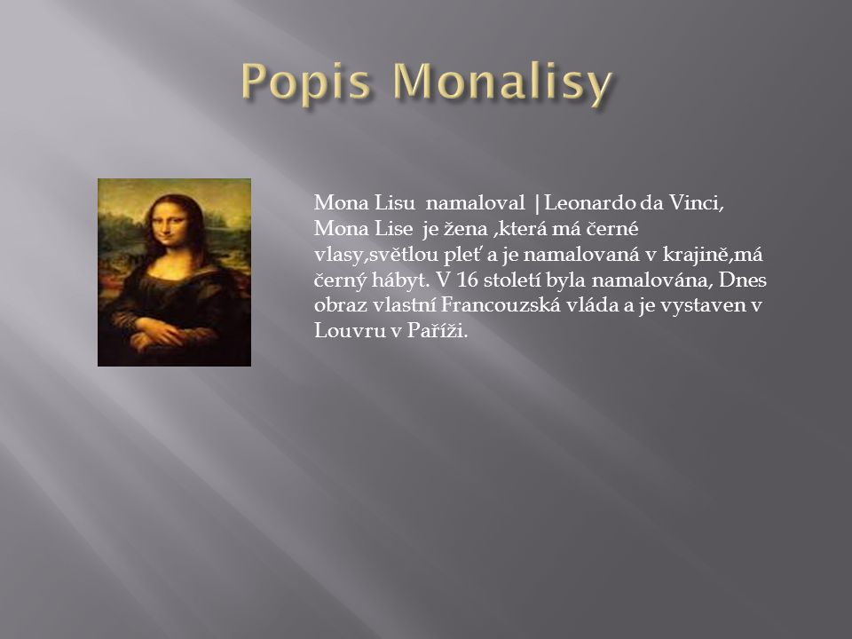 Popis Monalisy