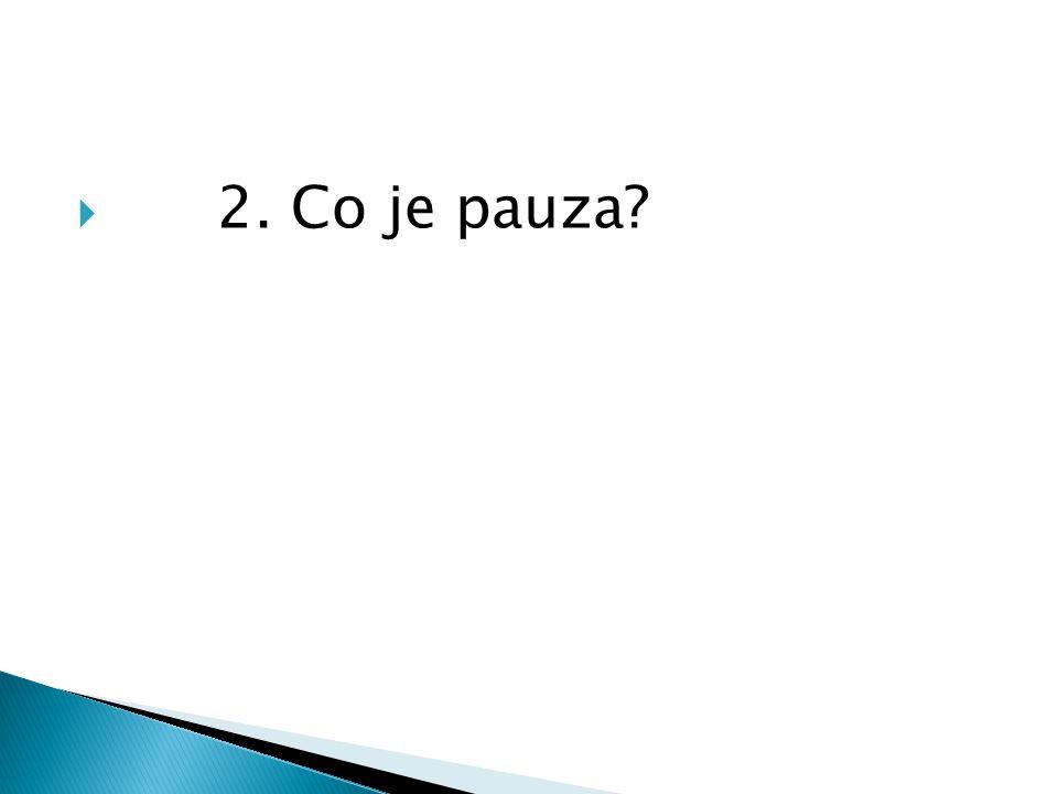 2. Co je pauza