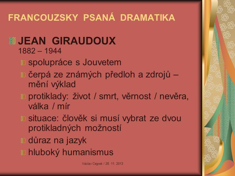 FRANCOUZSKY PSANÁ DRAMATIKA