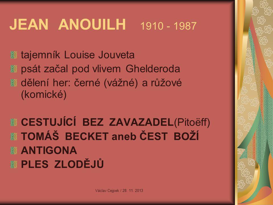 JEAN ANOUILH 1910 - 1987 tajemník Louise Jouveta