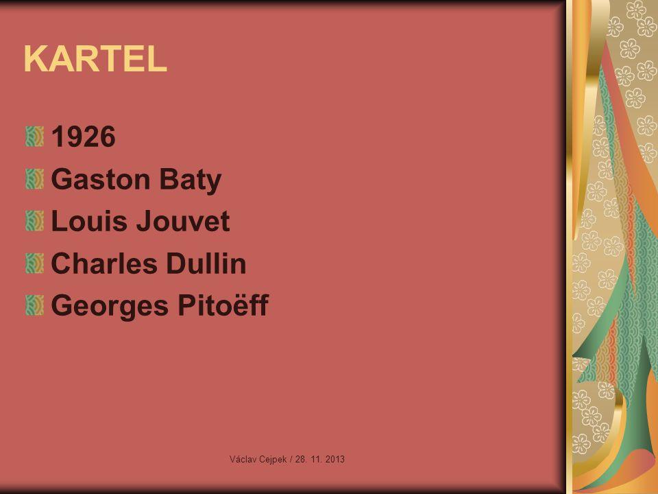 KARTEL 1926 Gaston Baty Louis Jouvet Charles Dullin Georges Pitoëff