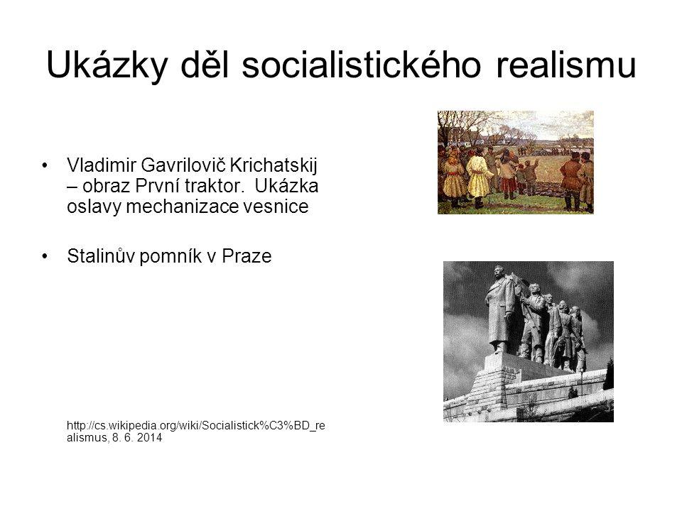 Ukázky děl socialistického realismu
