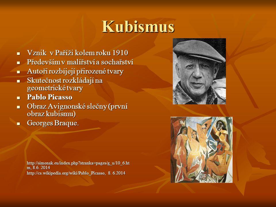 Kubismus Vznik v Paříži kolem roku 1910